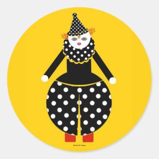 Pegatinas de Cirque de Martzkins Clown
