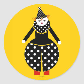 Pegatinas de Cirque de Martzkins Clown Pegatina Redonda
