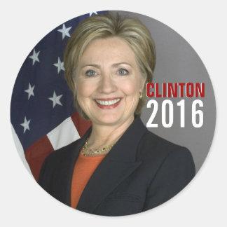 Pegatinas de Clinton 2016 Pegatina Redonda
