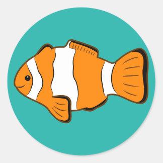 Pegatinas de Clownfish Pegatina Redonda