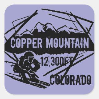 Pegatinas de cobre de la elevación del esquí de pegatina cuadrada