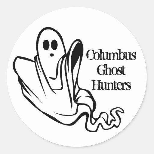 Pegatinas de ColumbusGhostHunters Etiqueta Redonda