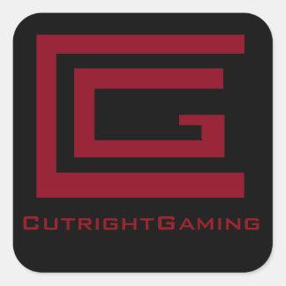 Pegatinas de CutrightGaming Pegatina Cuadrada