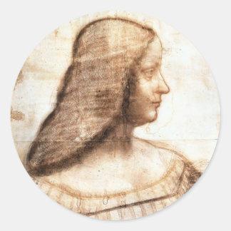 pegatinas de da Vinci Pegatina Redonda