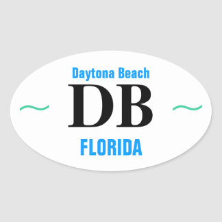 Pegatinas de DAYTONA BEACH (4) Calcomanías De Ovaladas