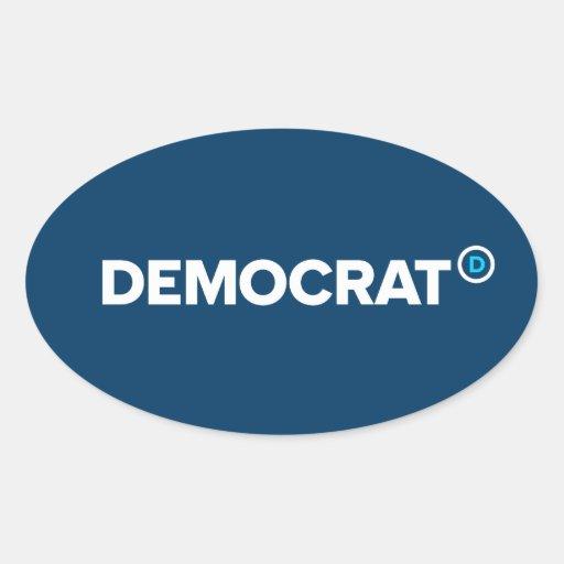 Pegatinas de Demócrata Calcomania Ovaladas Personalizadas