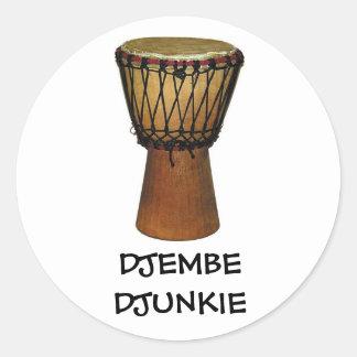 Pegatinas de DJEMBE DJUNKIE Pegatina Redonda