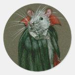 Pegatinas de Drácula de la cuenta de la rata Etiqueta Redonda