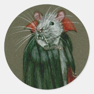 Pegatinas de Drácula de la cuenta de la rata