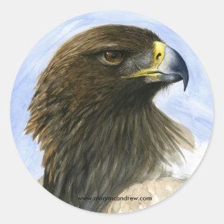 """Pegatinas de """"Eagle de oro"""" Etiquetas Redondas"""