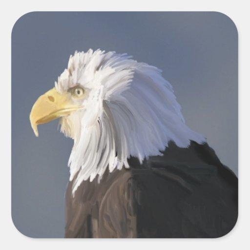 Pegatinas de Eagle Pegatina Cuadrada