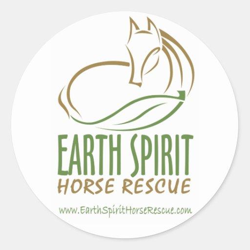 Pegatinas de Earth Spirit Horse Rescue Inc. Pegatina Redonda