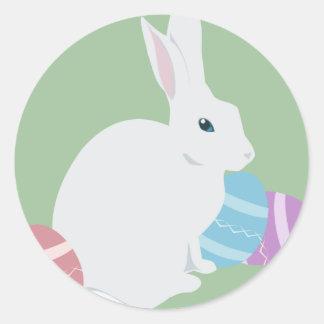 Pegatinas de Easterbunny Etiquetas Redondas