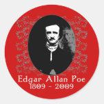 Pegatinas de Edgar Allan Poe Etiqueta Redonda