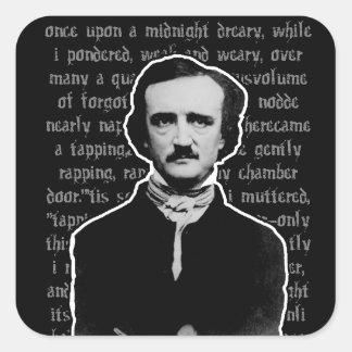 Pegatinas de Edgar Allan Poe Pegatina Cuadrada