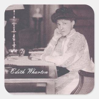 Pegatinas de Edith Wharton Pegatina Cuadrada