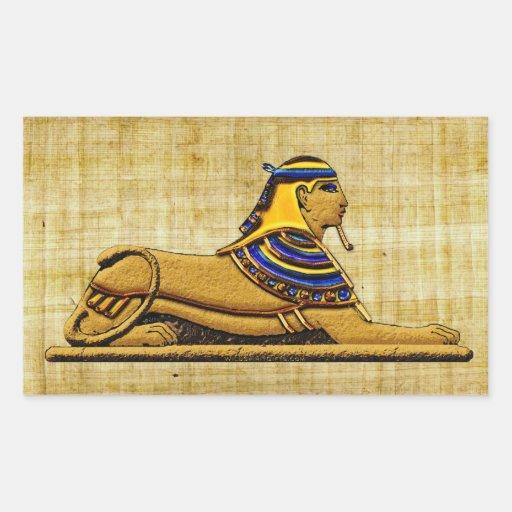 Pegatinas de Egipto antiguo de la esfinge del Pegatina Rectangular