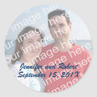 Pegatinas de encargo de la foto etiquetas redondas