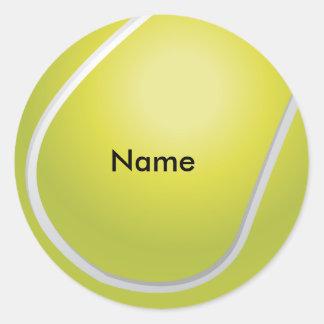 Pegatinas de encargo de la pelota de tenis pegatina redonda