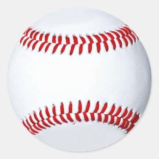 Pegatinas de encargo del béisbol pegatina redonda