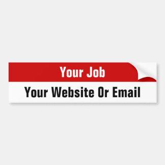 Pegatinas de encargo del buscador de trabajo - Web Pegatina De Parachoque