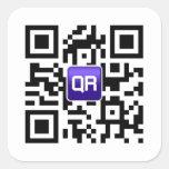 Pegatinas de encargo del código de QR Calcomanias Cuadradas