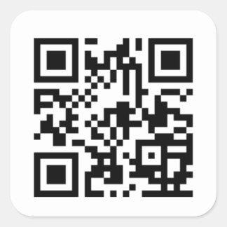 Pegatinas de encargo del código de QR Calcomanías Cuadradass