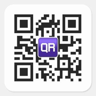 Pegatinas de encargo del código de QR Pegatina Cuadrada