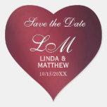 Pegatinas de encargo del logotipo del boda - en pegatinas corazon personalizadas