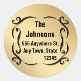 Pegatinas de encargo del sello de la dirección del etiquetas redondas
