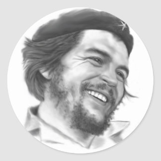 """Pegatinas de Ernesto """"Che"""" Guevara Pegatina Redonda"""