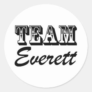 Pegatinas de Everett del equipo Pegatina Redonda