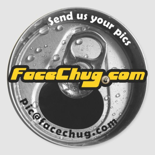 pegatinas de FaceChug.com Etiqueta Redonda