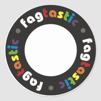 Pegatinas de Fagtastic (círculo) Etiquetas Redondas