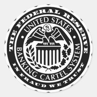Pegatinas de Federal Reserve
