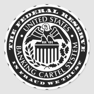 Pegatinas de Federal Reserve Etiqueta Redonda