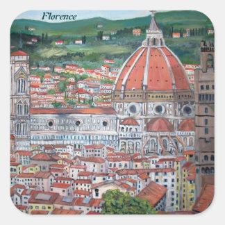 Pegatinas de Florencia Pegatina Cuadrada