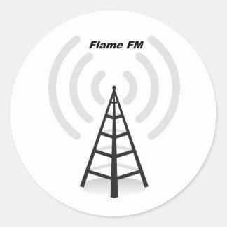 Pegatinas de FM de la llama Pegatina Redonda
