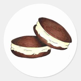 Pegatinas de Foodie del postre de las empanadas de Pegatina Redonda