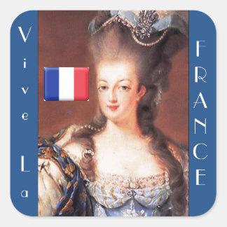 Pegatinas de Francia Marie Antonieta del La de Pegatina Cuadrada