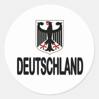 Pegatinas de Fußball Eagle del fútbol de Deutschla Pegatinas Redondas