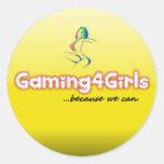 Pegatinas de Gaming4Girls Etiqueta Redonda