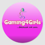 Pegatinas de Gaming4Girls Pegatina Redonda