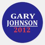 Pegatinas de Gary Johnson
