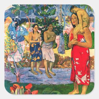 Pegatinas de Gauguin Ia Orana Maria Pegatina Cuadrada