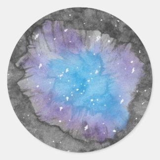 Pegatinas de Geode de la galaxia Pegatina Redonda