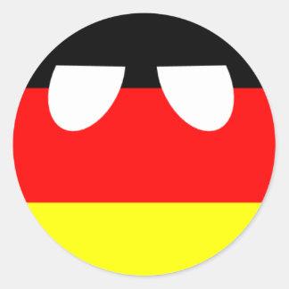 Pegatinas de Germanyball Pegatina Redonda