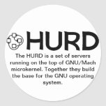 Pegatinas de GNU/HURD