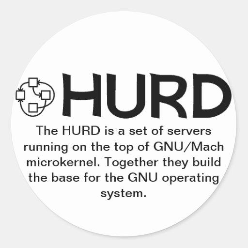Pegatinas de GNU/HURD Pegatina Redonda