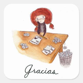 Pegatinas de Gracias Square Sticker